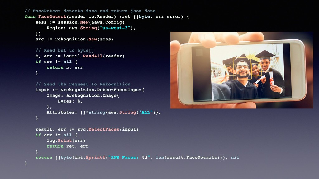 // FaceDetect detects face and return json data...