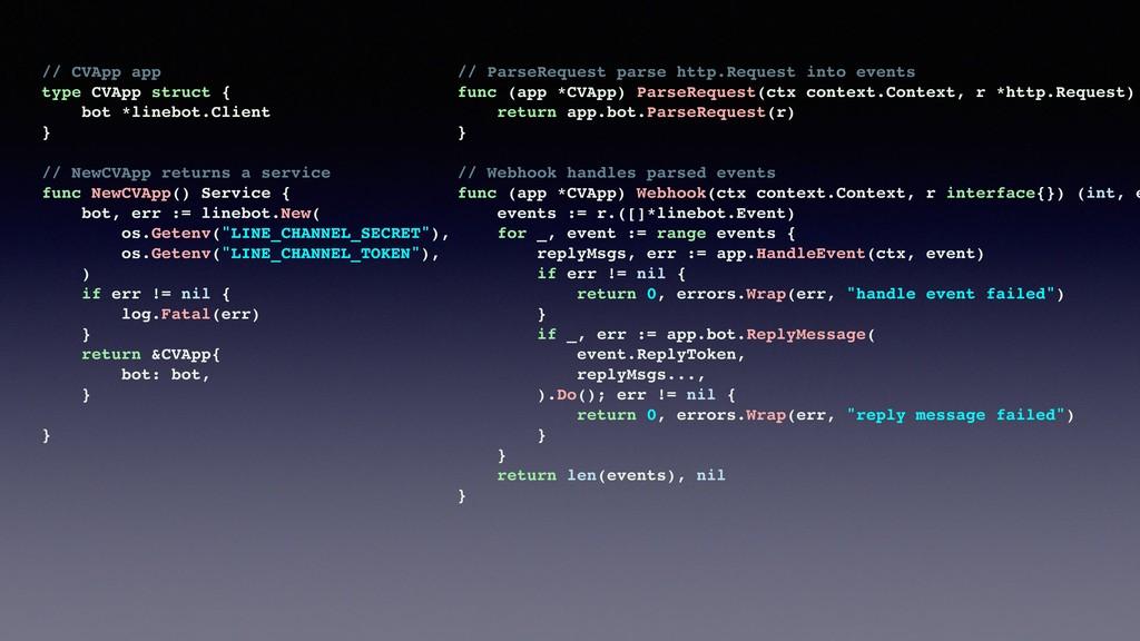 // CVApp app type CVApp struct { bot *linebot.C...