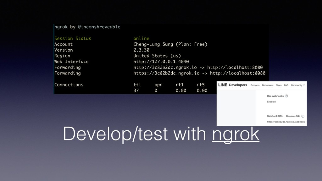 Develop/test with ngrok