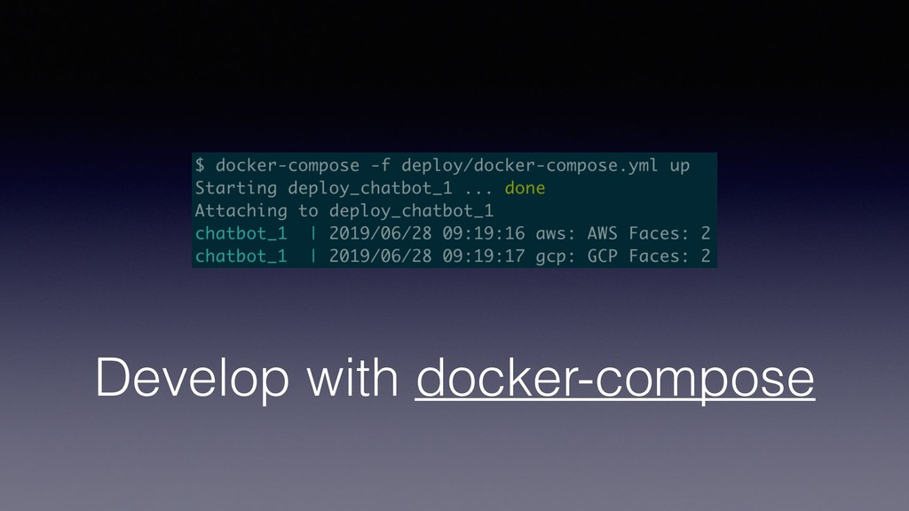 Develop with docker-compose