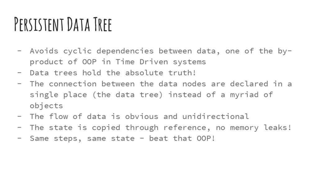 Persistent Data Tree - Avoids cyclic dependenci...