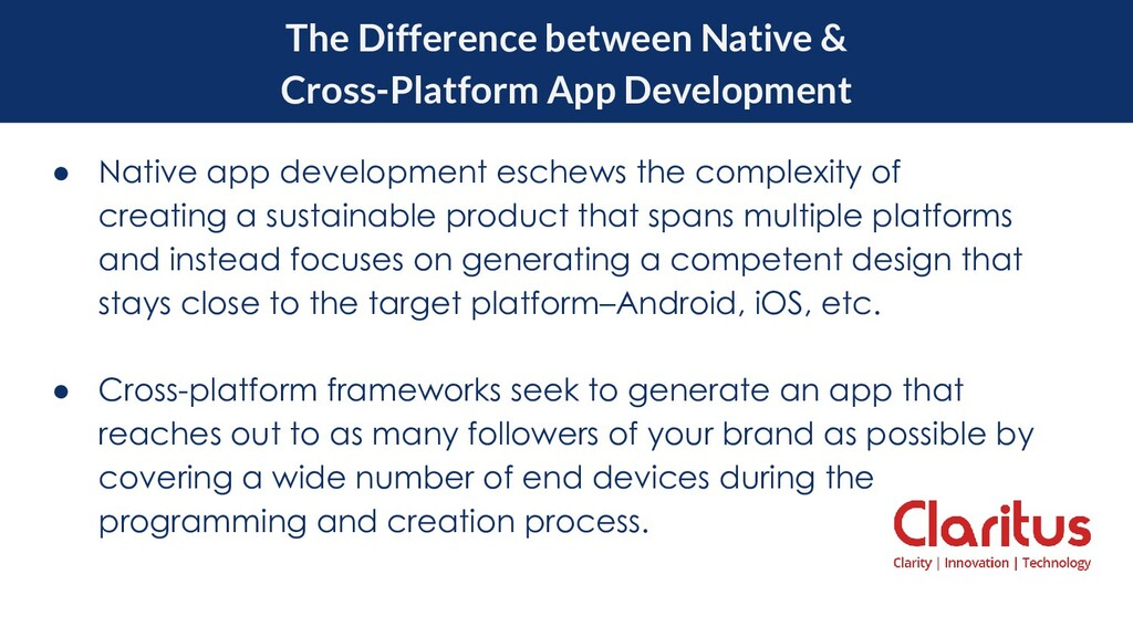 The Difference between Native & Cross-Platform ...