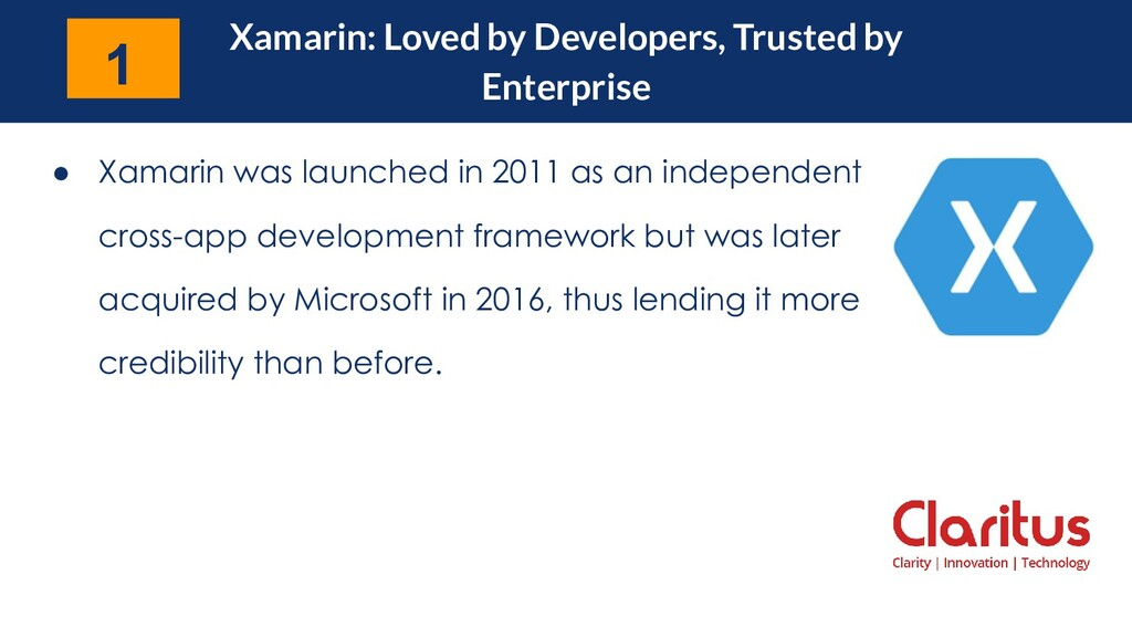 Xamarin: Loved by Developers, Trusted by Enterp...
