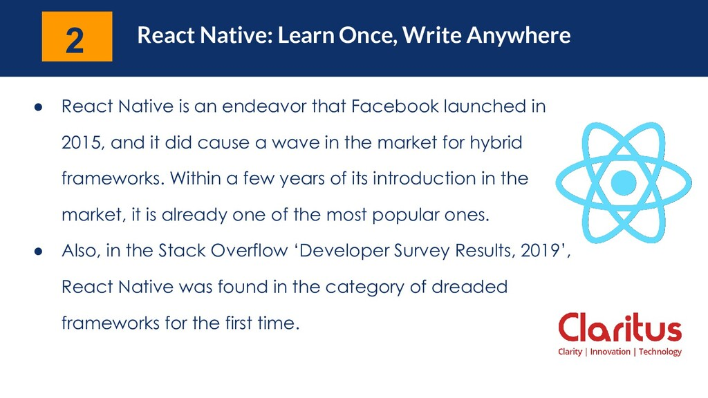 React Native: Learn Once, Write Anywhere ● Reac...