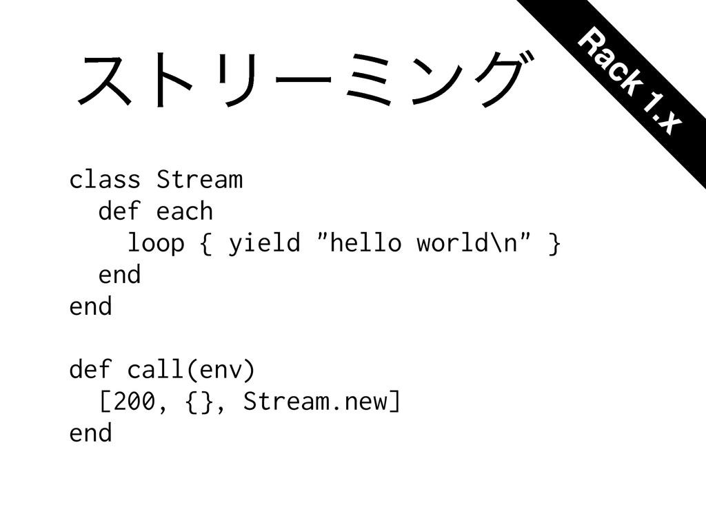 """ετϦʔϛϯά class Stream def each loop { yield """"hel..."""