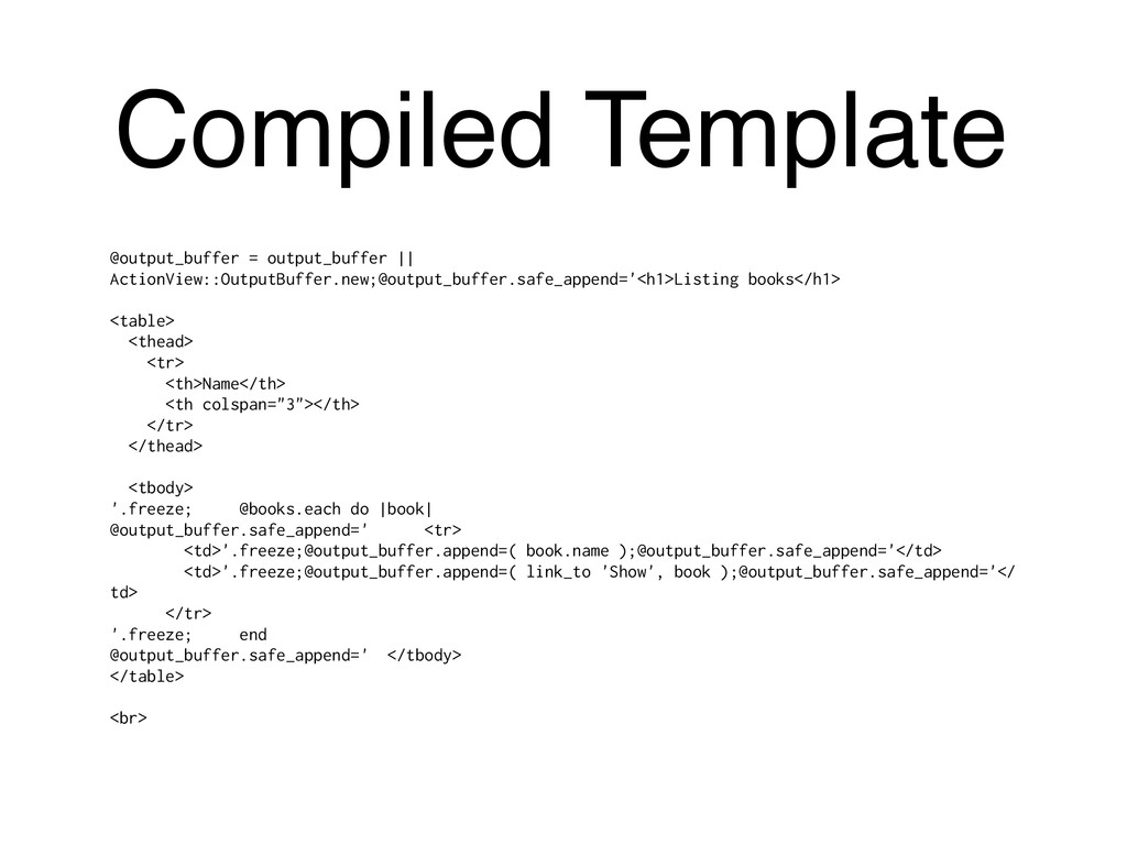 Compiled Template @output_buffer = output_buffe...