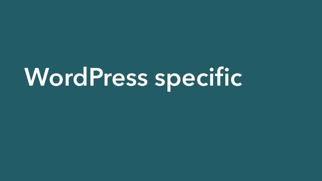 WordPress specific