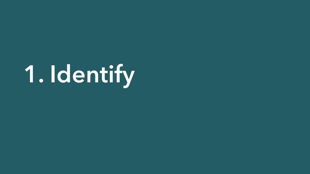 1. Identify
