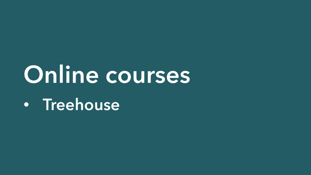 Online courses • Treehouse
