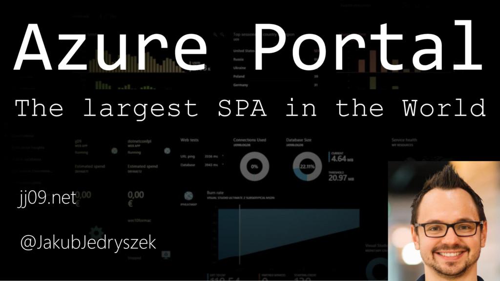 Azure Portal jj09.net @JakubJedryszek The large...
