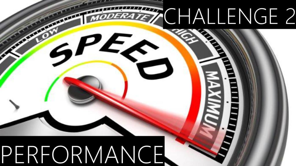 CHALLENGE 2 PERFORMANCE