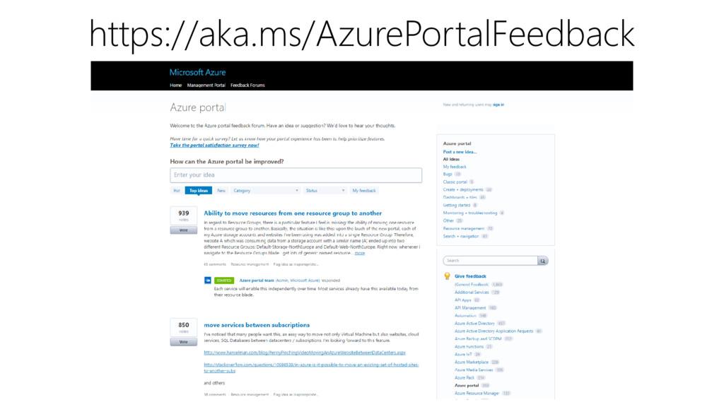 https://aka.ms/AzurePortalFeedback
