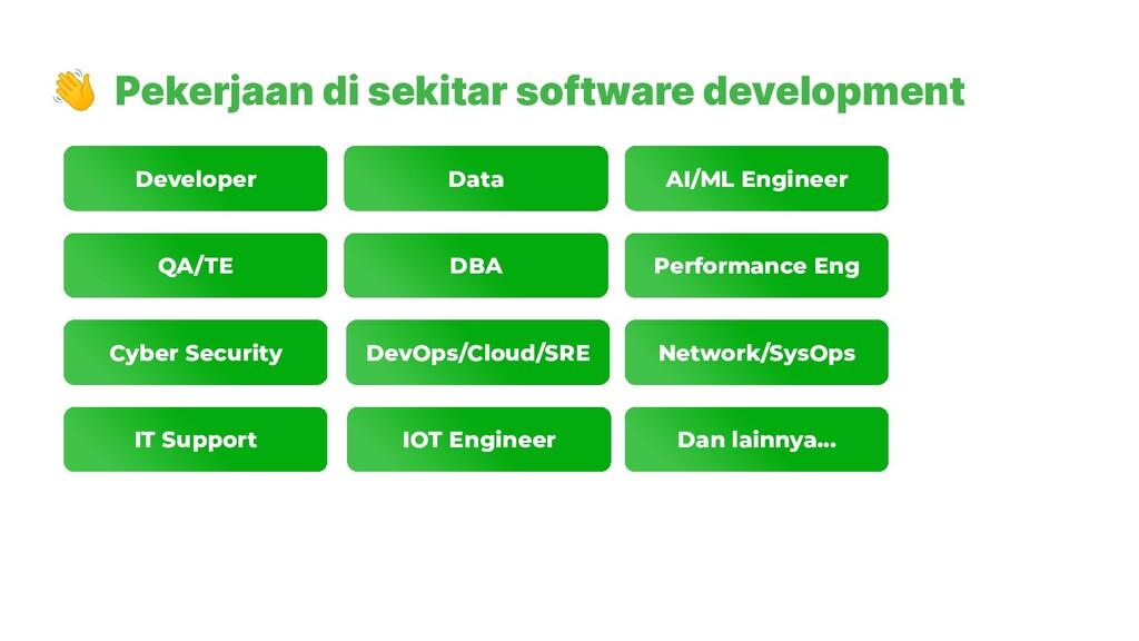 👋 Pekerjaan di sekitar software development Dev...