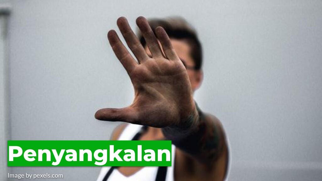 Penyangkalan Image by pexels.com