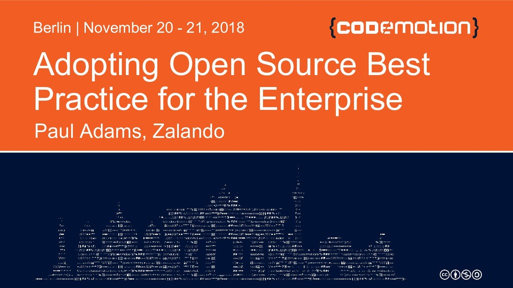 Adopting Open Source Best Practice for the Ente...