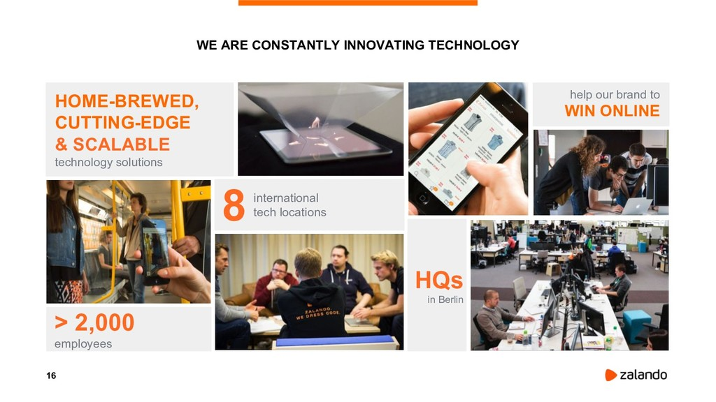 16 WE ARE CONSTANTLY INNOVATING TECHNOLOGY HOME...