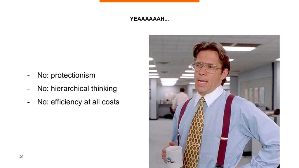 20 YEAAAAAAH... - No: protectionism - No: hiera...