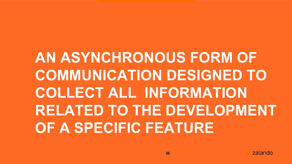 26 AN ASYNCHRONOUS FORM OF COMMUNICATION DESIGN...
