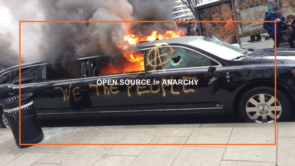 5 OPEN SOURCE != ANARCHY