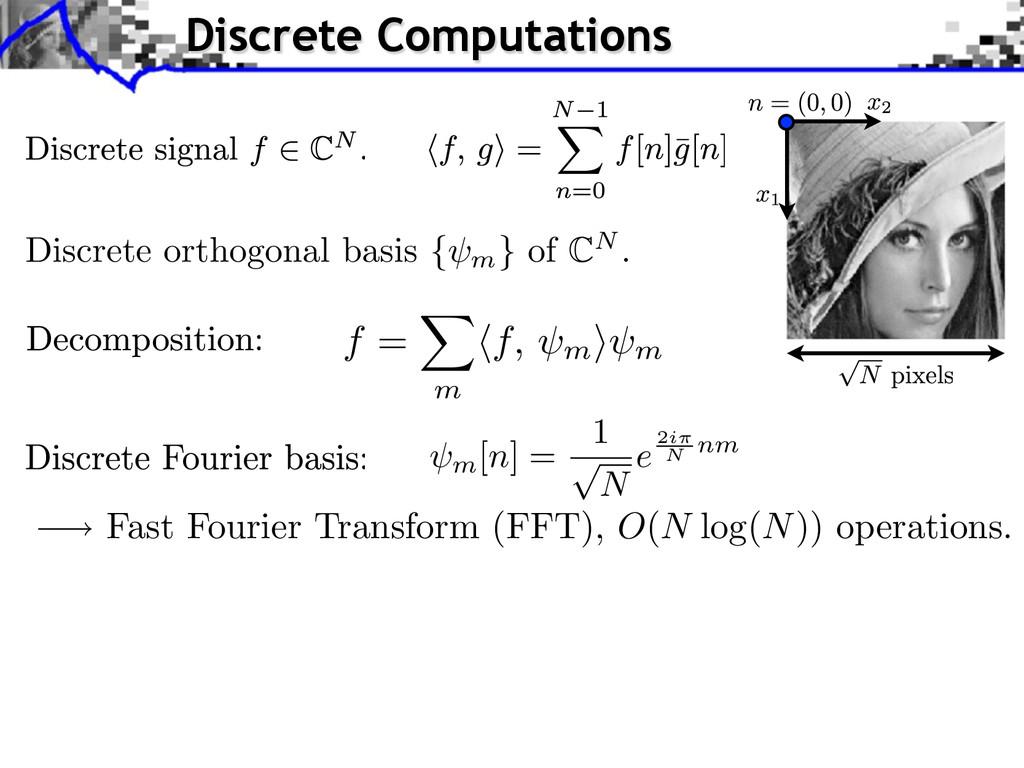 Fast Fourier Transform (FFT), O(N log(N)) opera...