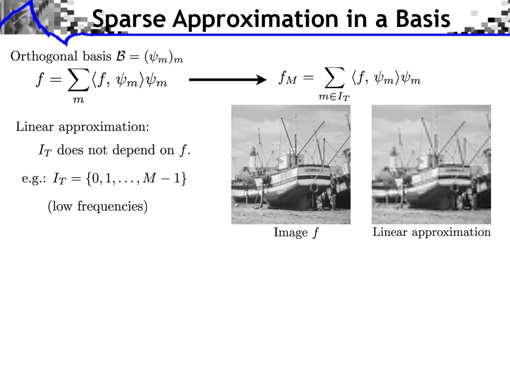 Sparse Approximation in a Basis