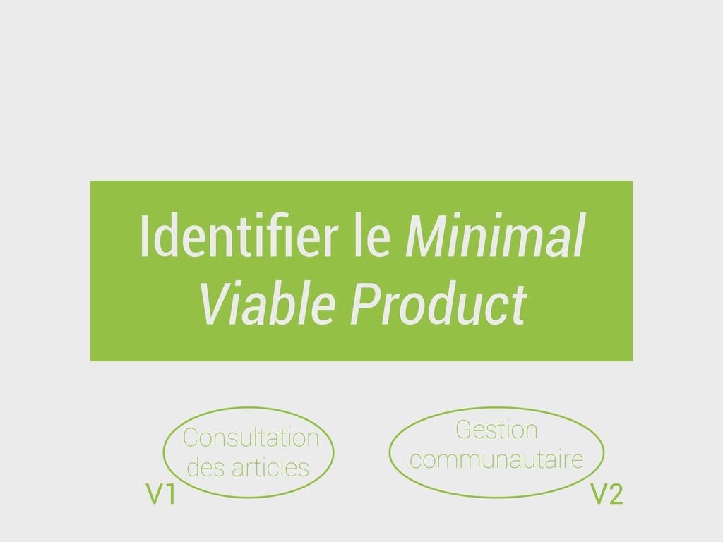 Identifier le Minimal Viable Product Consultatio...