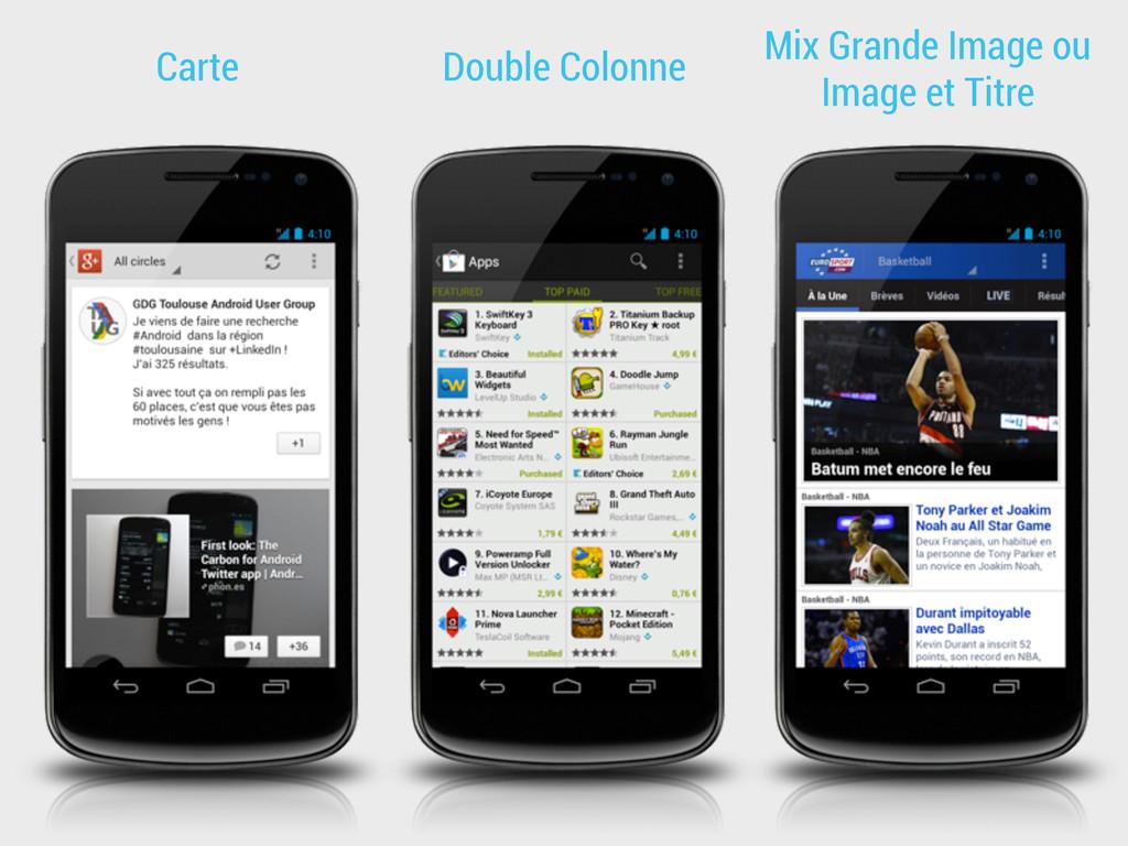 Carte Double Colonne Mix Grande Image ou Image ...
