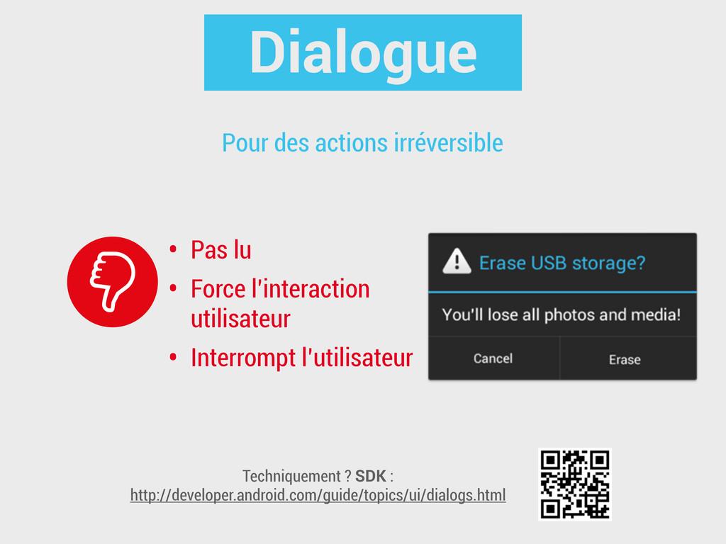 Dialogue • Pas lu • Force l'interaction utilisa...