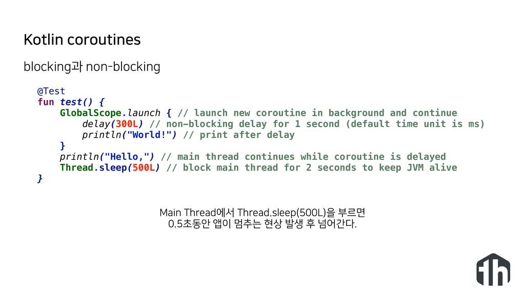 Kotlin coroutines @Test fun test() { GlobalScop...