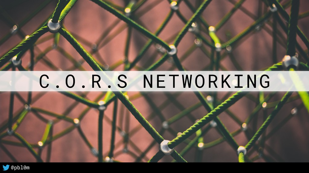 1 C.O.R.S NETWORKING @pbl0m