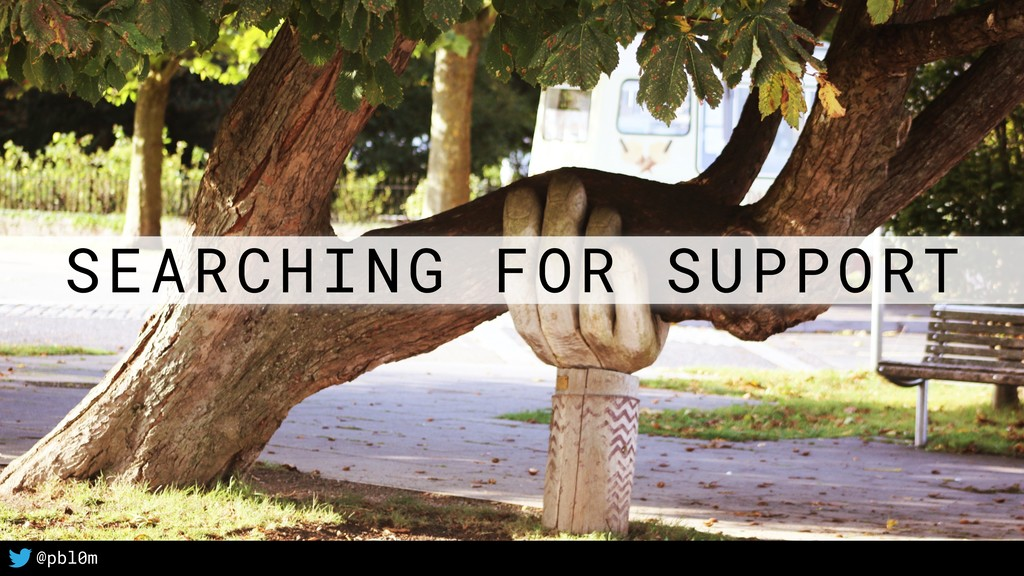 13 @pbl0m SEARCHING FOR SUPPORT
