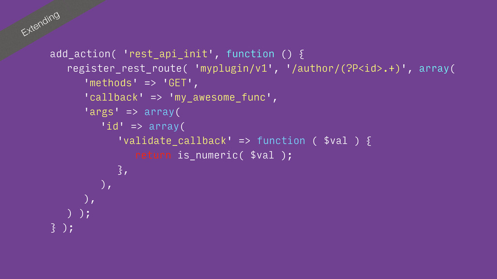 Extending add_action( 'rest_api_init', function...