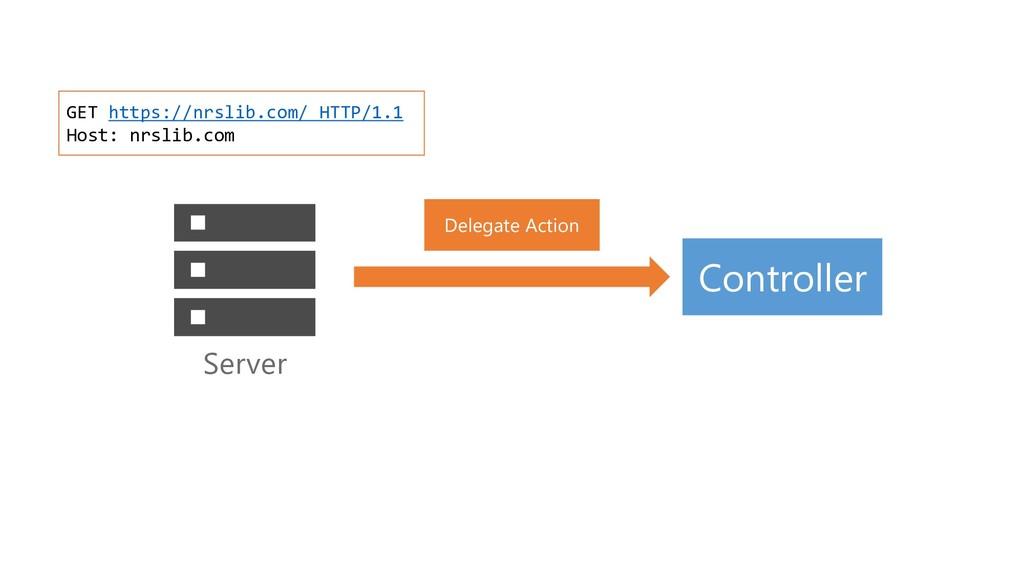 Delegate Action Server GET https://nrslib.com/ ...
