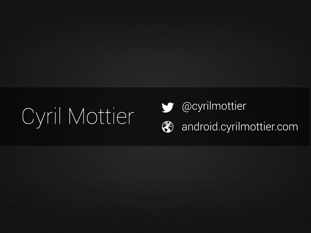 @cyrilmottier android.cyrilmottier.com Cyril Mo...