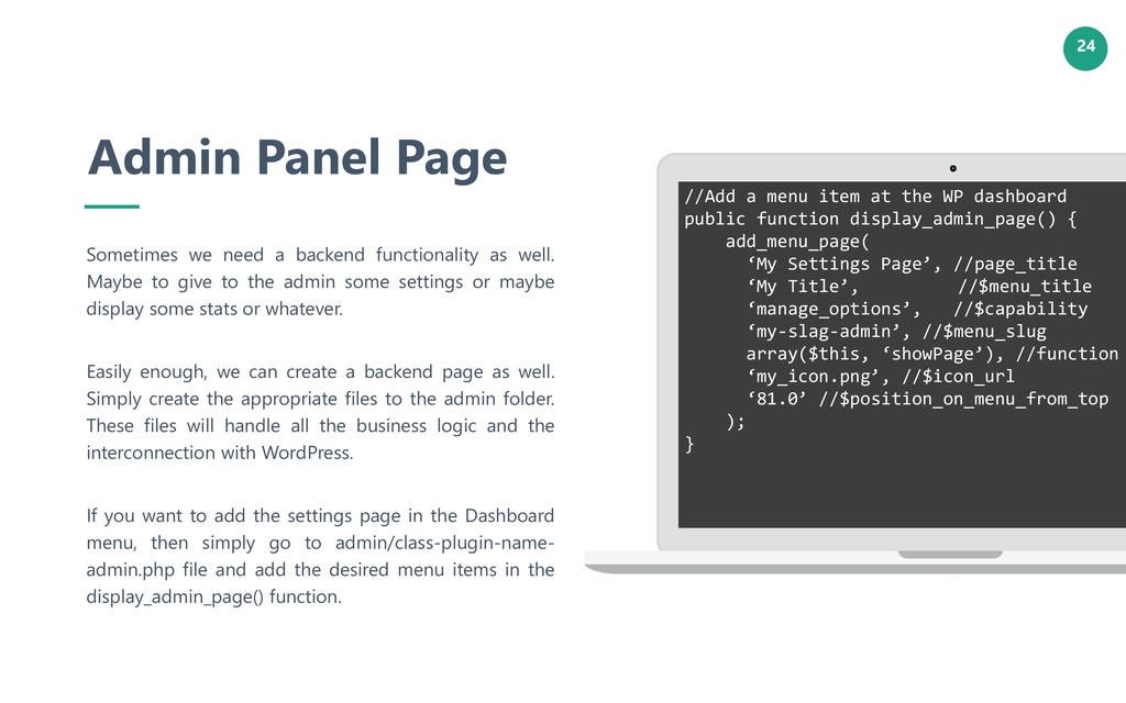24 Admin Panel Page Sometimes we need a backend...