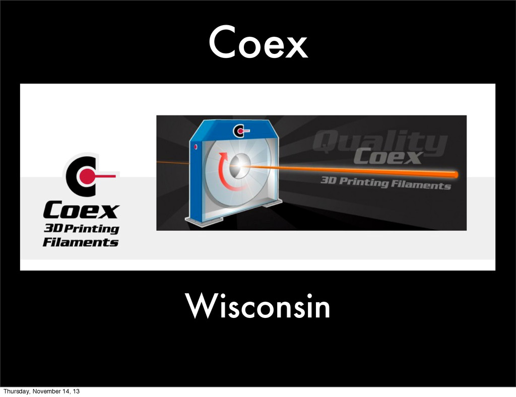 Coex Wisconsin Thursday, November 14, 13