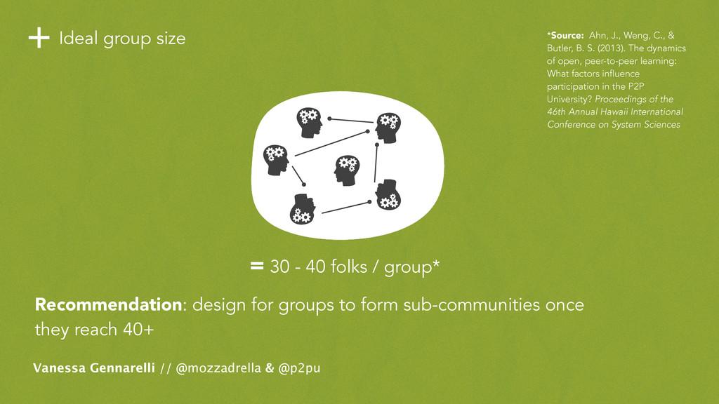 +Ideal group size Vanessa Gennarelli // @mozzad...