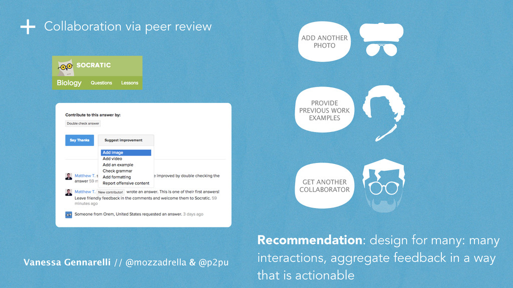 + Collaboration via peer review Vanessa Gennare...