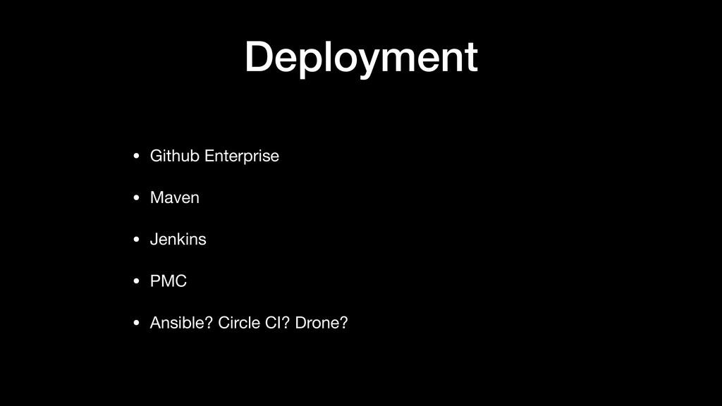 Deployment • Github Enterprise  • Maven  • Jenk...