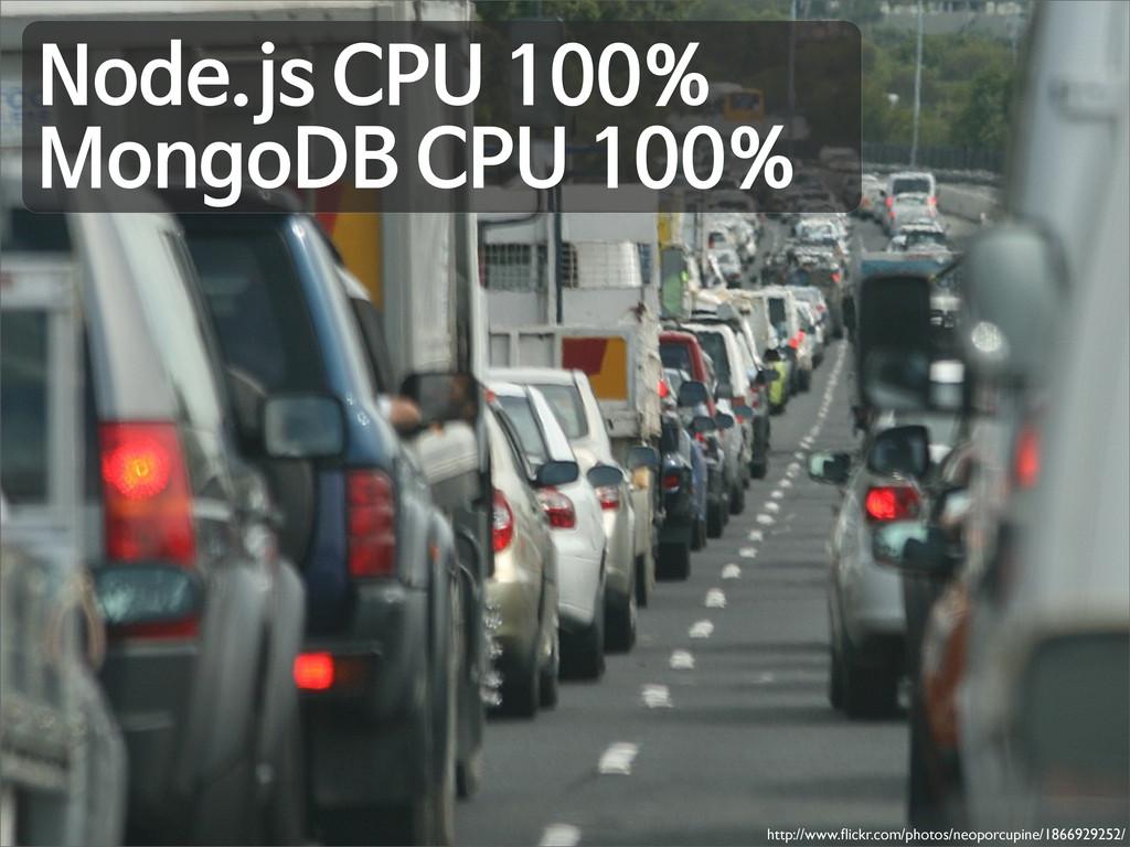 Node.js CPU 100% MongoDB CPU 100% http://www.fli...