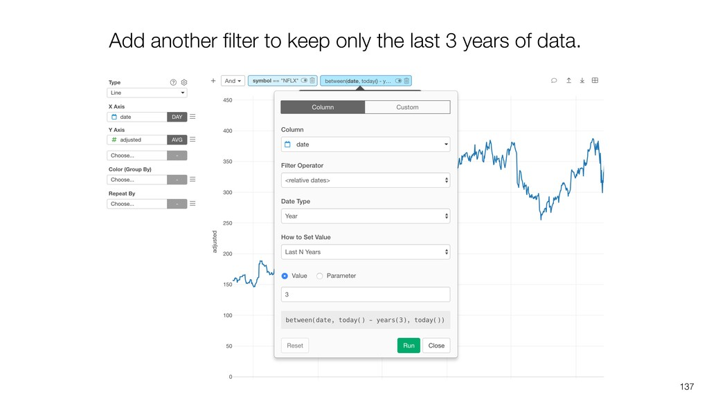 137 Add another filter to keep only the last 3 y...