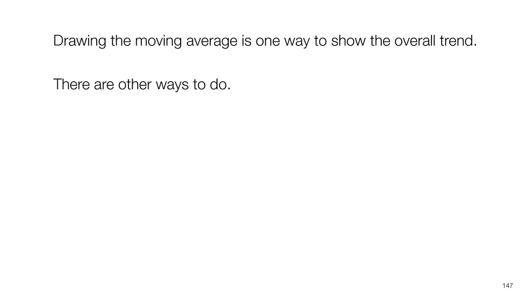 147 Drawing the moving average is one way to sh...