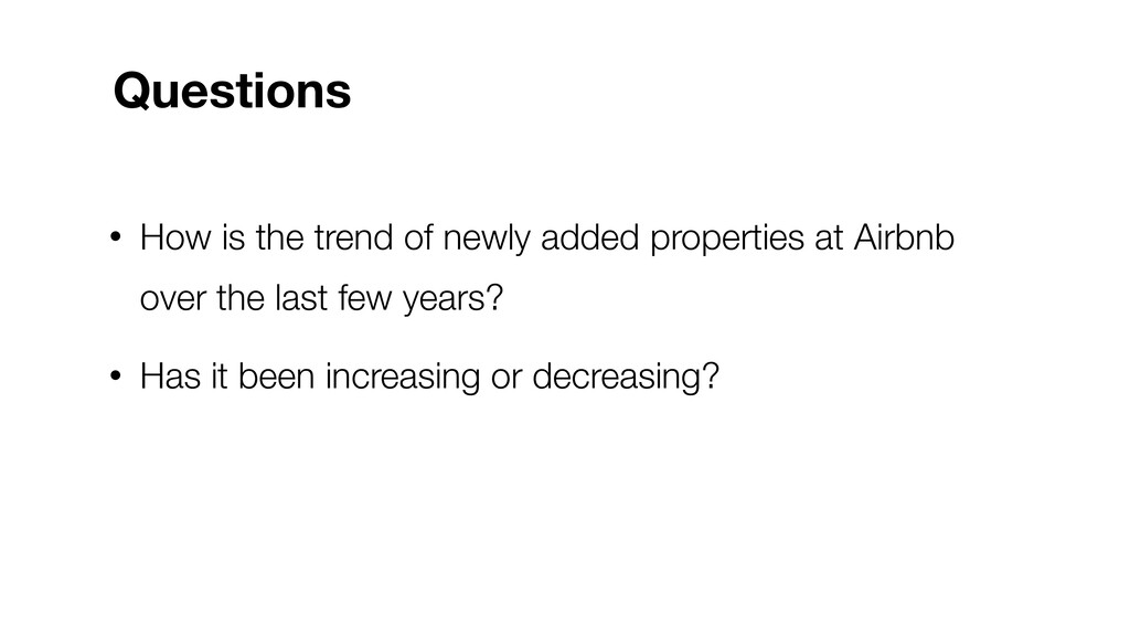 • How is the trend of newly added properties at...