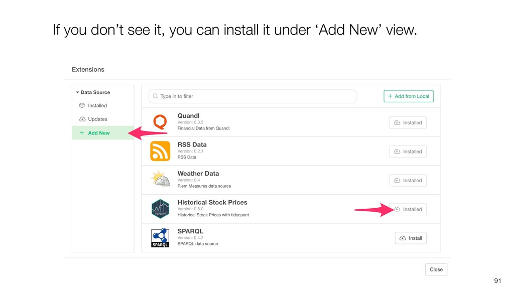 91 If you don't see it, you can install it unde...