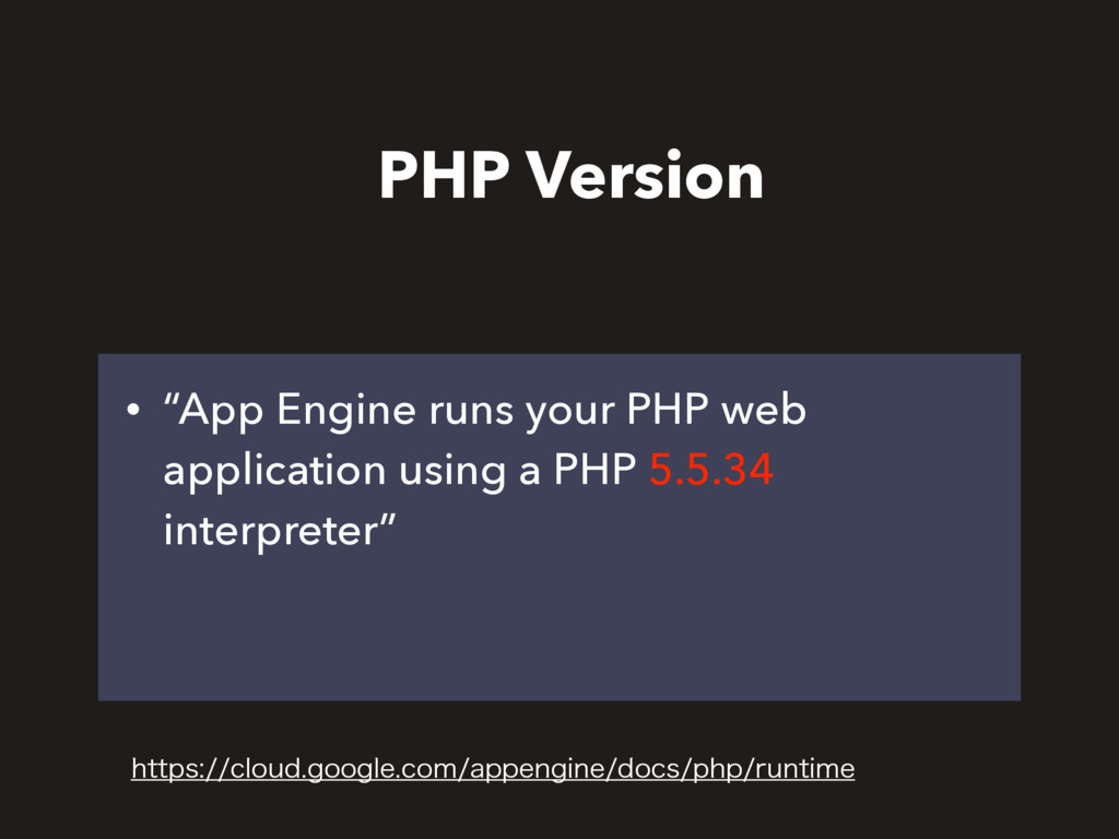"• ""App Engine runs your PHP web application usi..."