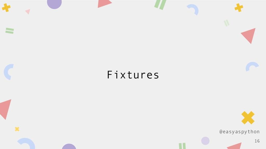 @easyaspython Fixtures !16