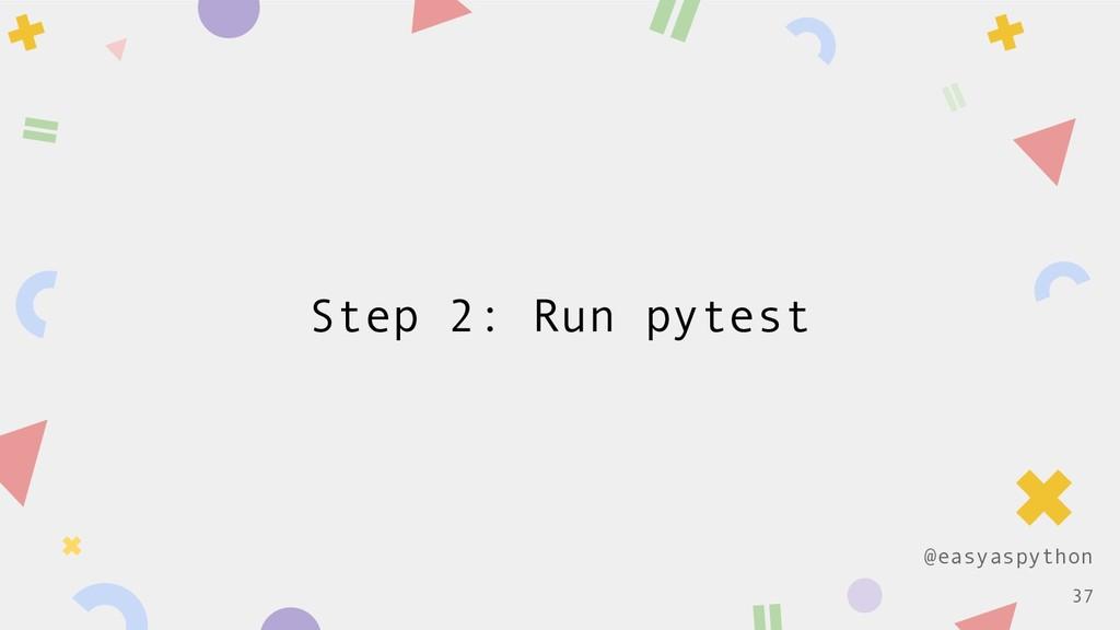 @easyaspython Step 2: Run pytest !37