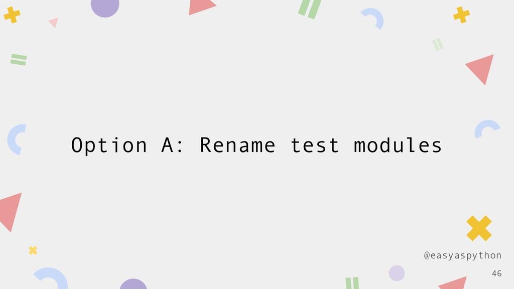 @easyaspython Option A: Rename test modules !46