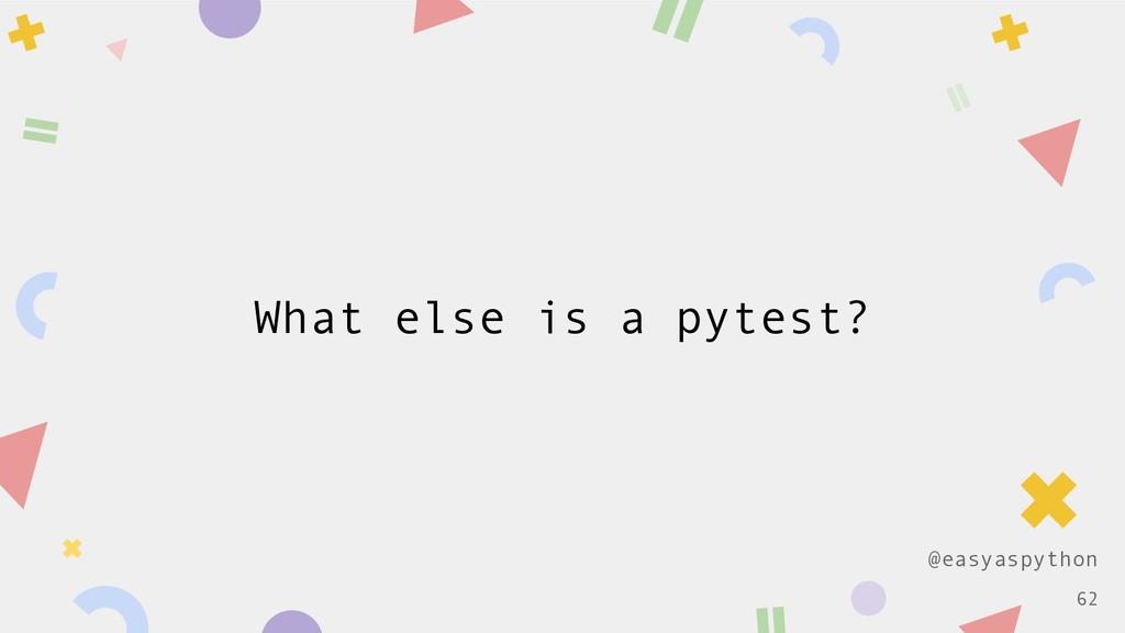 @easyaspython What else is a pytest? !62