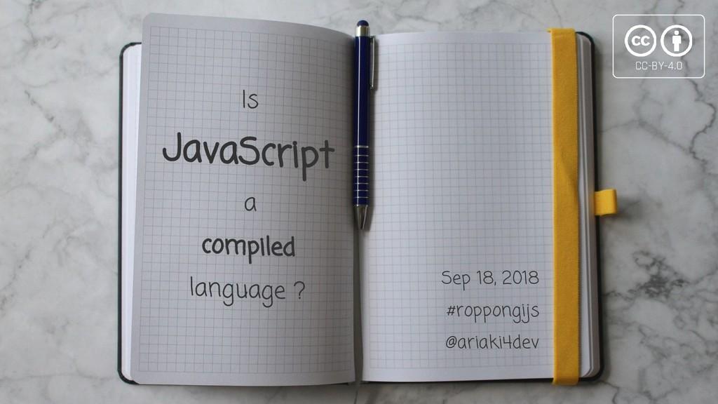 Sep 18, 2018 #roppongijs @ariaki4dev JavaScript...